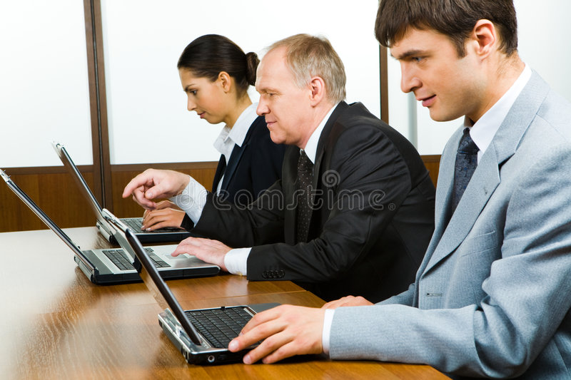 Row of people stock photography