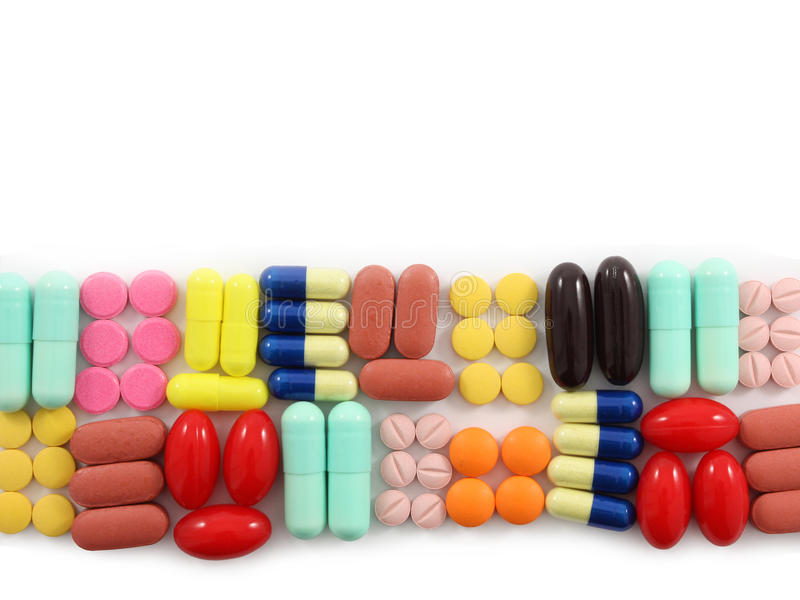 A Row of Pills royalty free stock photos