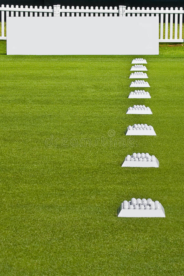 Download Row Of Practice Balls, Blank Signage Boards Stock Photo - Image: 12443766