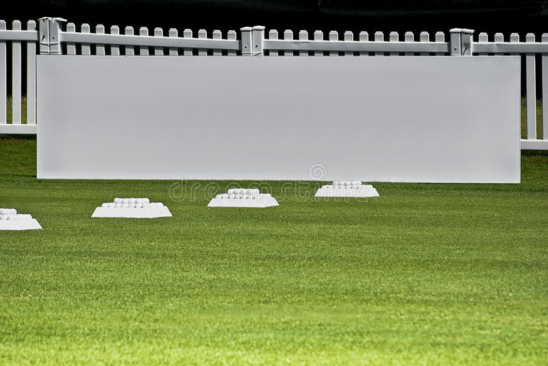 Download Row Of Practice Balls, Blank Signage Boards Stock Photo - Image: 14033382