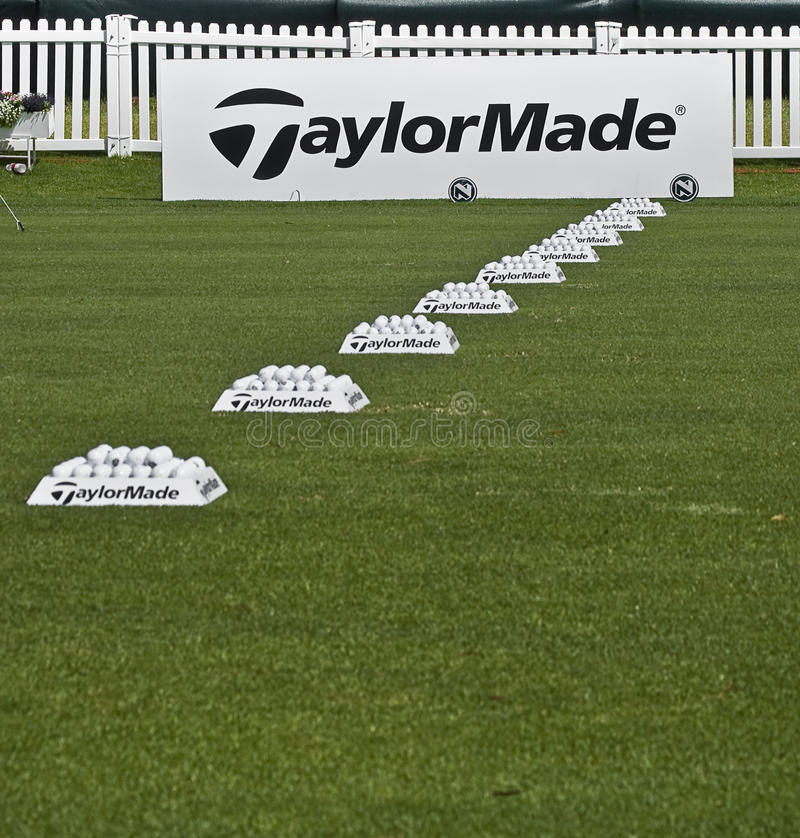 Download Row Of Practice Balls - Taylormade Editorial Photo - Image: 13907431