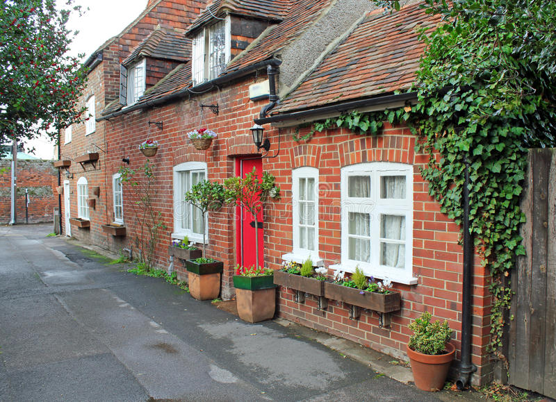 Row of pretty kent cottages royalty free stock images