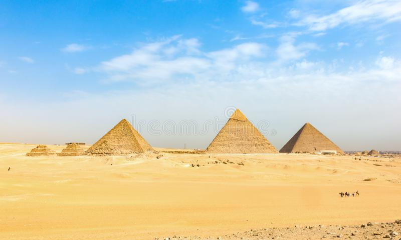 Row of Pyramids stock photo
