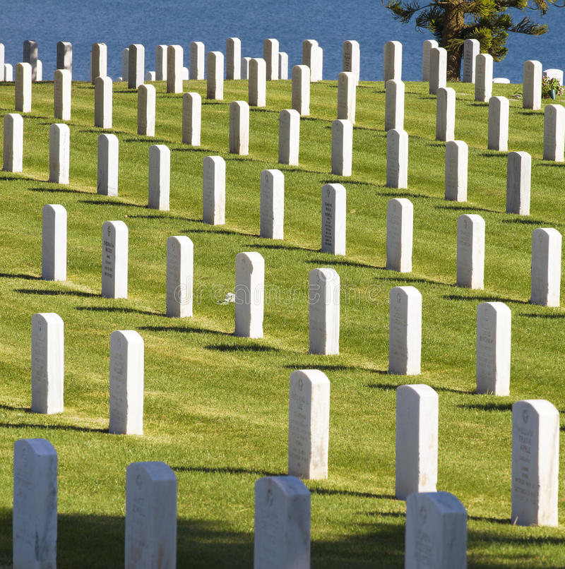 Download Military Cemetery, California Editorial Stock Image - Image: 30283744