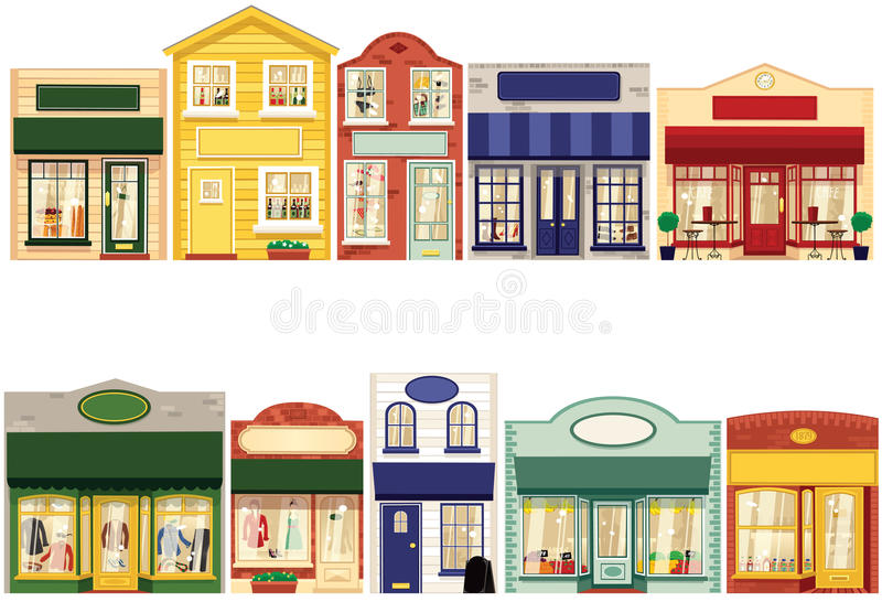 Row of shops royalty free stock photo