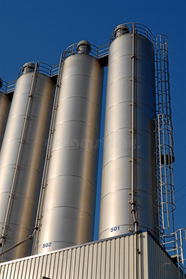 Row of silos royalty free stock image