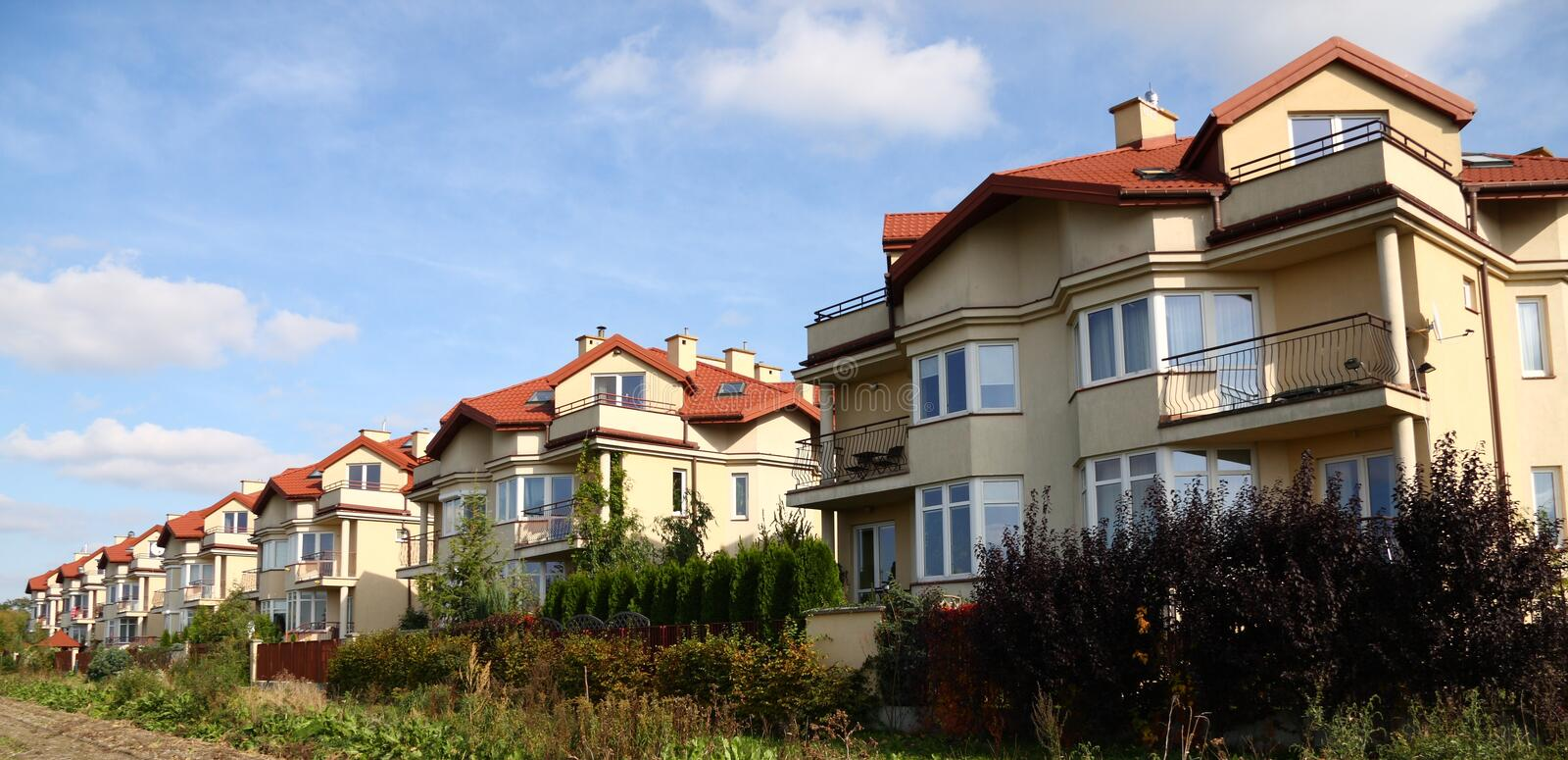 Download Row Of Similar Houses Royalty Free Stock Image - Image: 6685156
