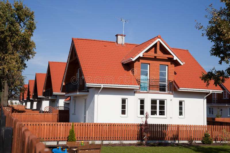 Download Row Of Single Family Houses Stock Image - Image: 17019545