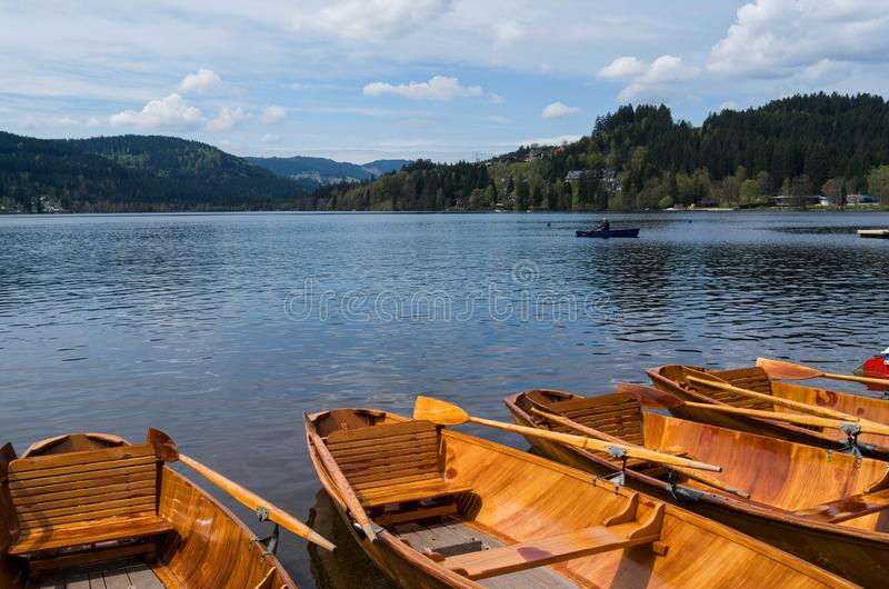 Landscape of titisee lake in German royalty free stock images