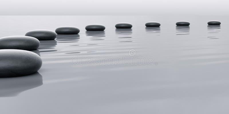 Row of stones leading vector illustration