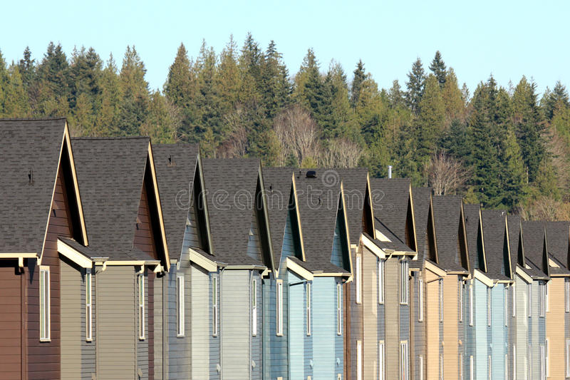 Download Row of Suburban Houses stock image. Image of houses, identity - 12068649