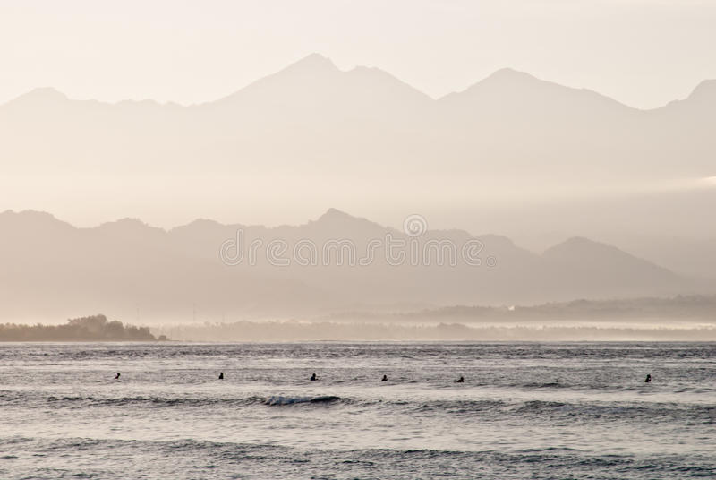 Download Row of surfers stock photo. Image of sunrise, holiday - 15235022