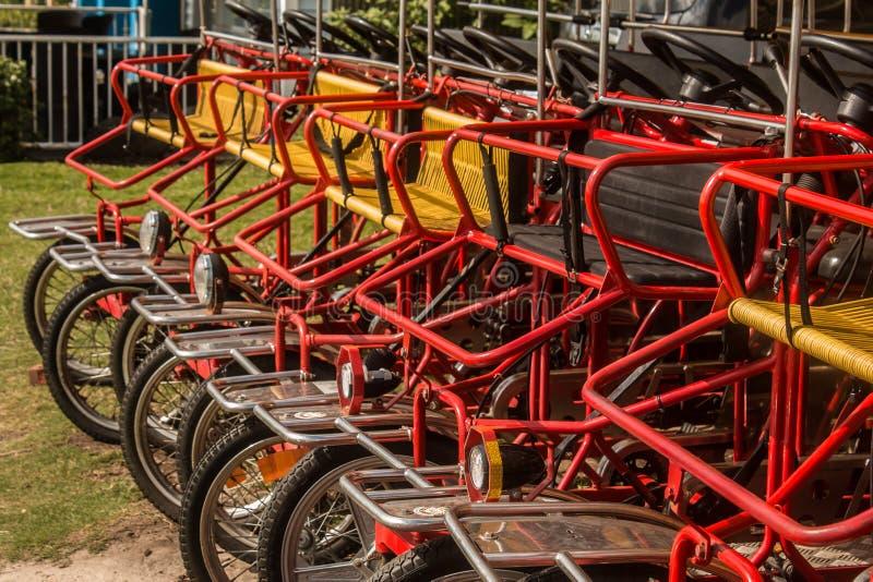 Row of Surrey Bikes royalty free stock photos