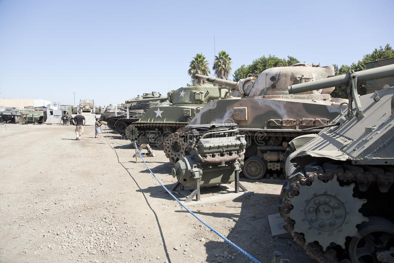 Row of Tanks American Military Museum