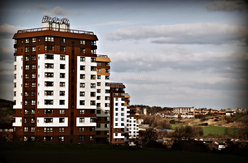Download Row of Tower Blocks stock photo. Image of homelessness - 4942490