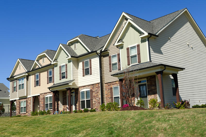 Row of townhouses royalty free stock photography