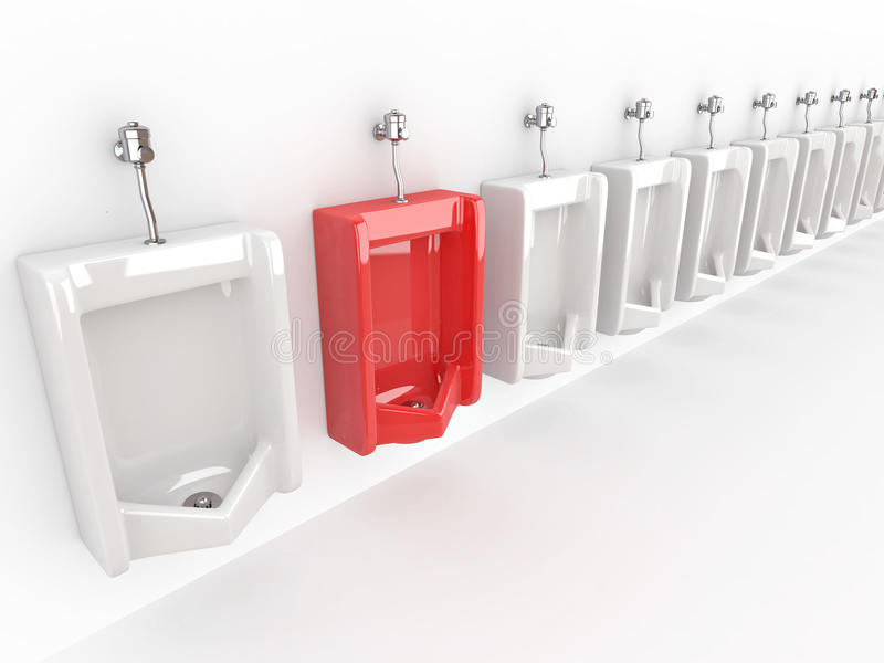 Download Row of urinals stock illustration. Image of dirty, restroom - 18410615