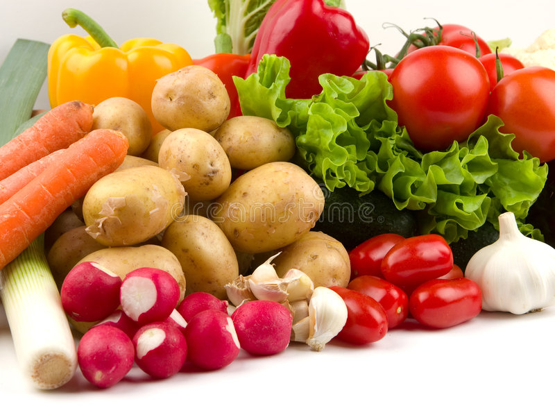 Row of vegetables stock photos