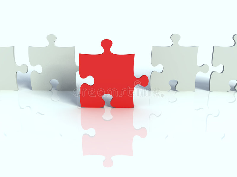 Download Row of white puzzle stock illustration. Image of collect - 3560963
