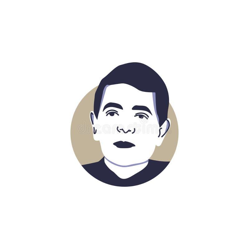Rowan Atkinson como ejemplo sabido de Sr. bean face vector del asa aisló libre illustration