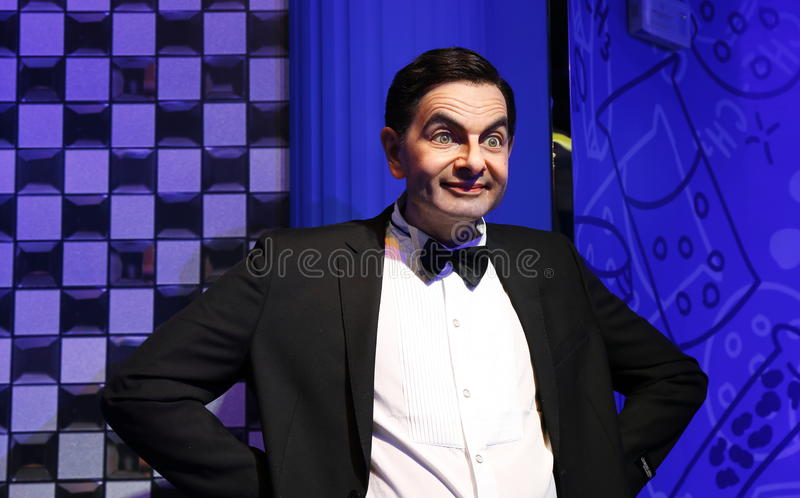 Rowan Atkinson, estatua de la cera, figura de cera, figura de cera imagenes de archivo