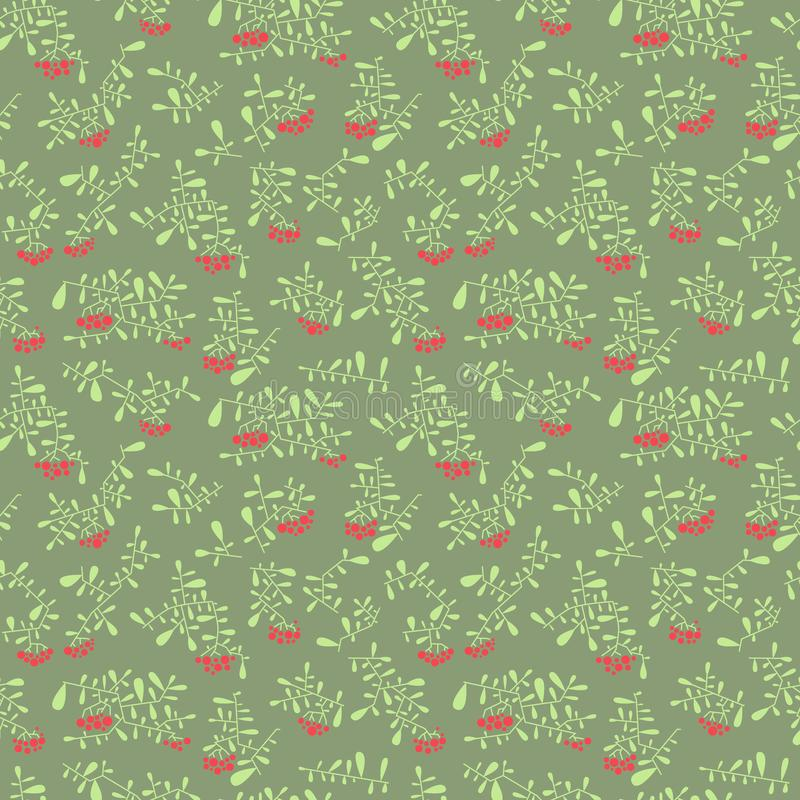 Download Rowan Berry Seamless Pattern In Flat Simple Style. Doodle Floral Stock Vector - Image: 104761572