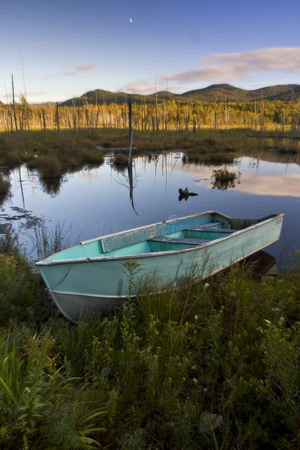 Rowboat в Adirondacks стоковые изображения rf
