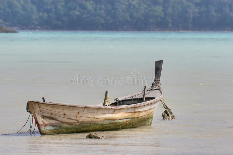 Rowboat del Moken immagine stock