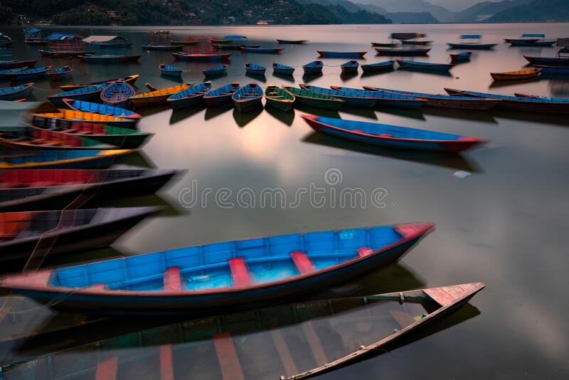 Rowboat on a lake royalty free stock photography