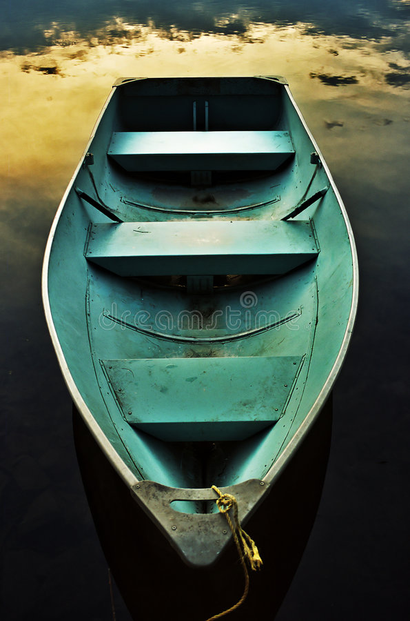 Rowboat romantico fotografia stock