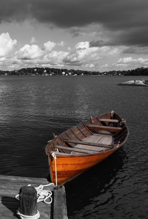 Rowboat rustico fotografia stock libera da diritti