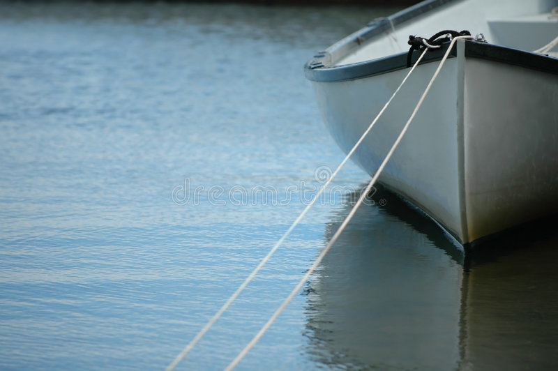 Rowboat in Water royalty free stock images