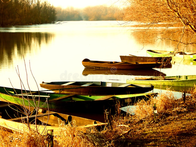 Rowboats royalty free stock photography