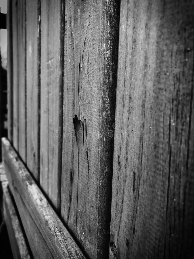 Rowe of aged planks of wood royalty free stock images