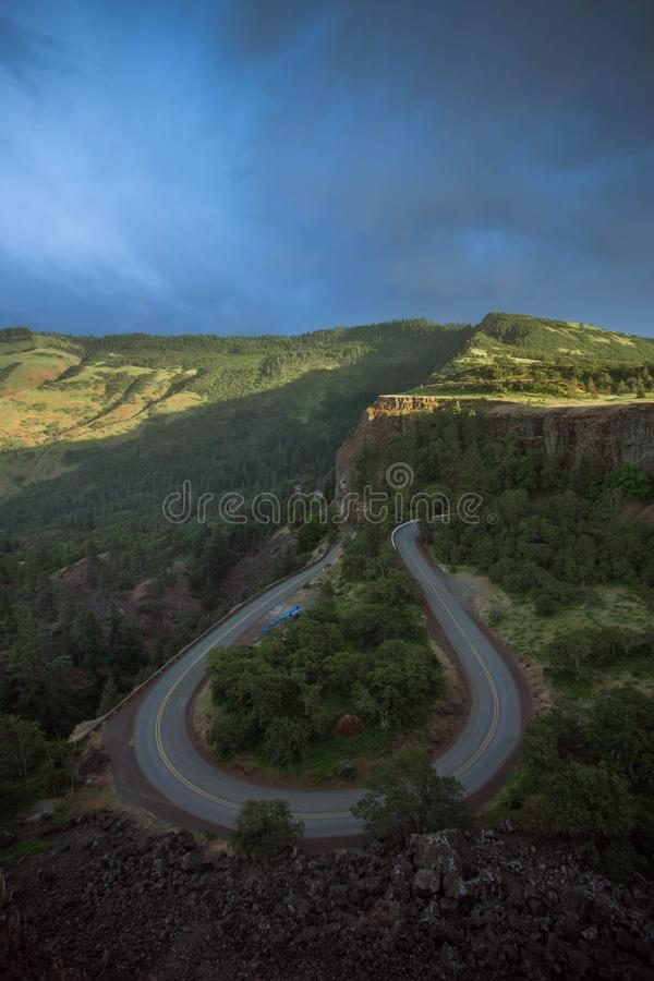 Rowena Crest View Road Photo royalty-vrije stock foto's