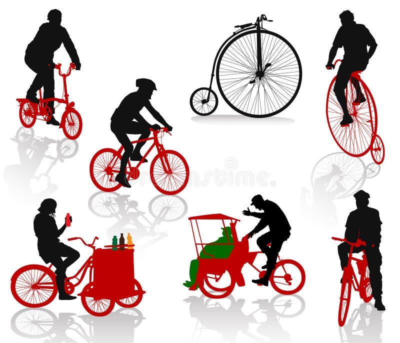 rowerów ludzie ilustracja wektor