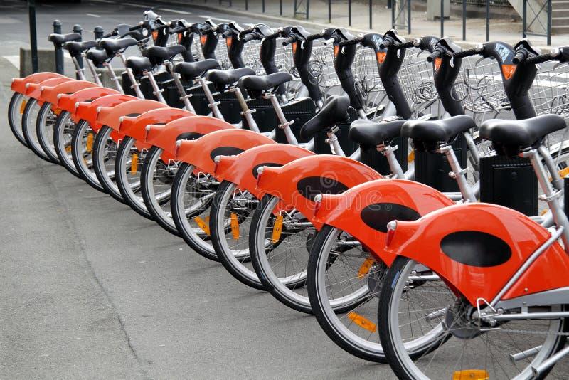 rowerów miasta czynsz zdjęcie stock