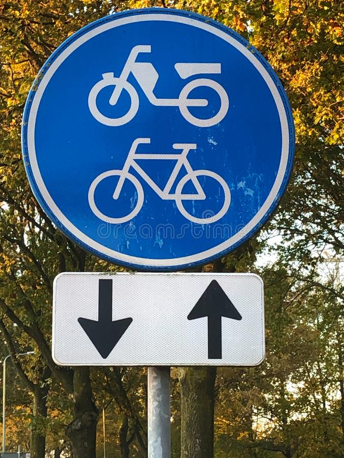 Rower/ścieżka motocyklowa zdjęcia royalty free