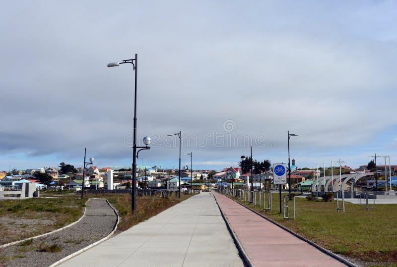 Rower ścieżka w wiosce Porvenir zdjęcia royalty free
