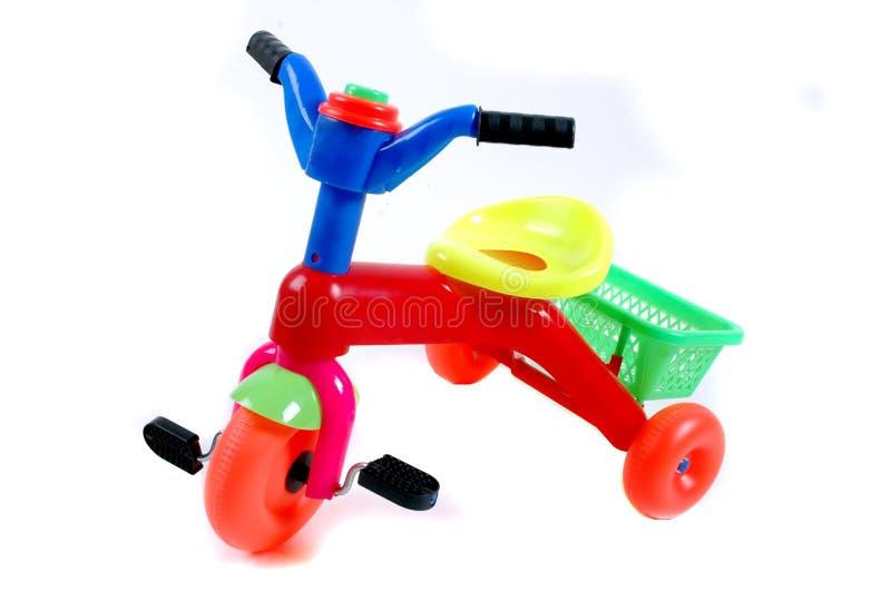 rower żartuje plastikowe zabawki fotografia stock