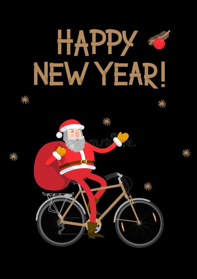 rower Claus Santa ilustracja wektor