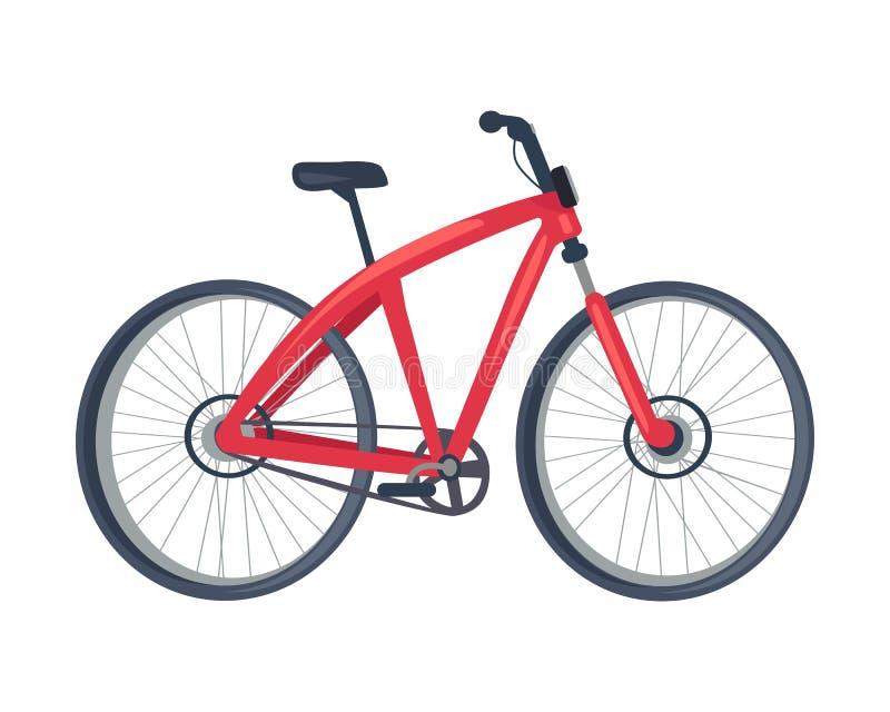 Rower Czerwonego koloru plakat, Wektorowa ilustracja ilustracji