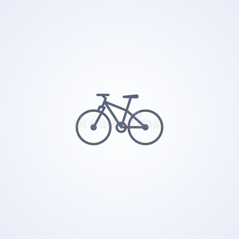 Rower górski, wektorowa najlepszy szarości linii ikona ilustracji