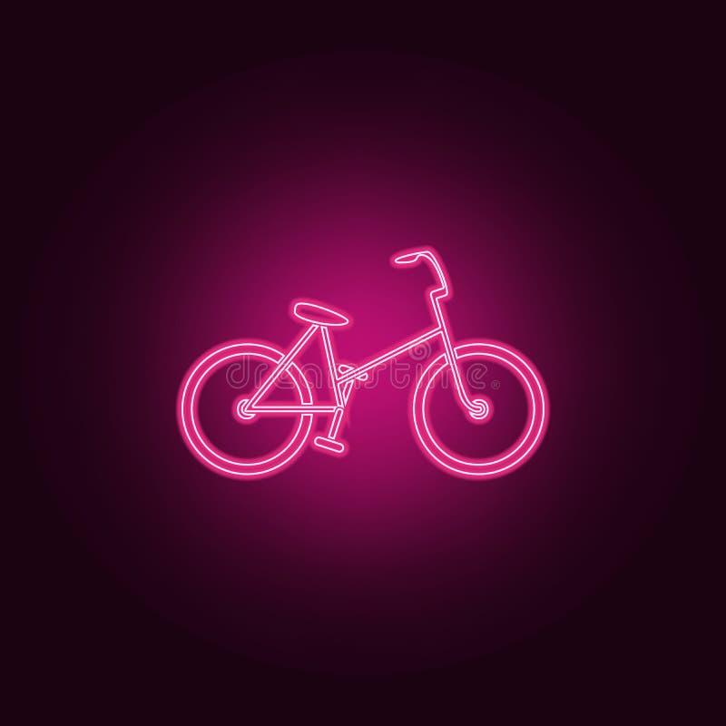 rower ikona Elementy ekologia w neonowych stylowych ikonach Prosta ikona dla stron internetowych, sieć projekt, mobilny app, ewid ilustracja wektor