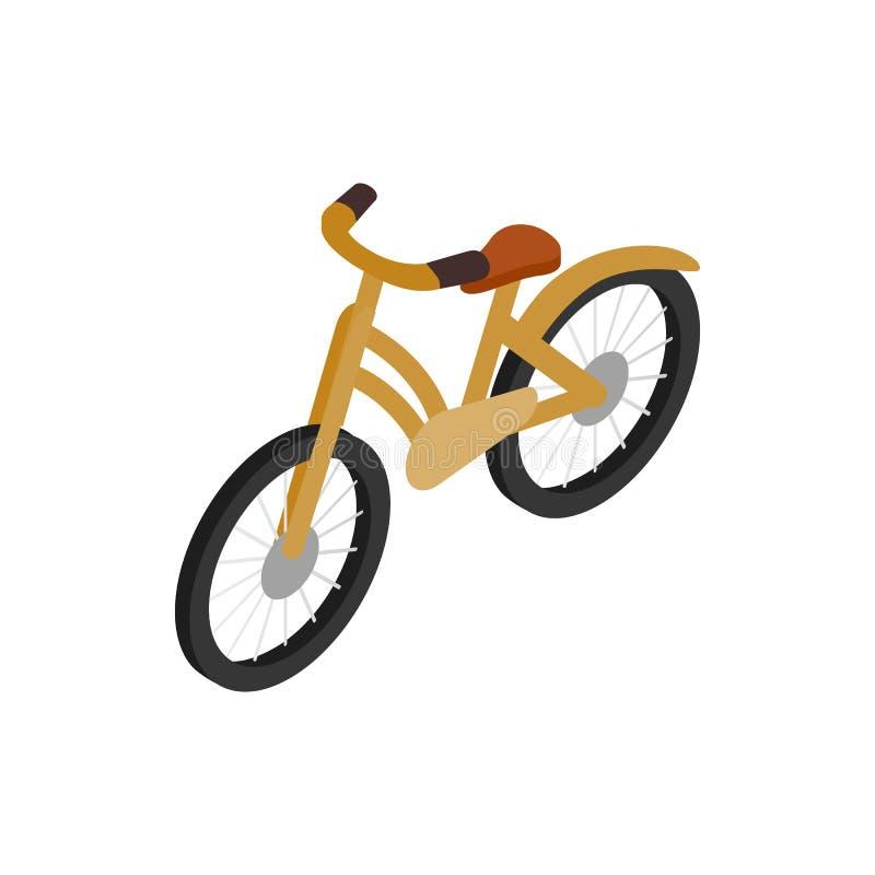 Rower ikona, isometric 3d styl ilustracji