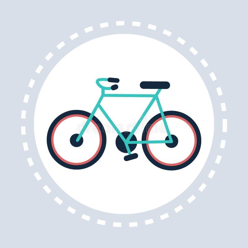 Rower ikony styl życia pojęcia aktywny zdrowy mieszkanie ilustracja wektor
