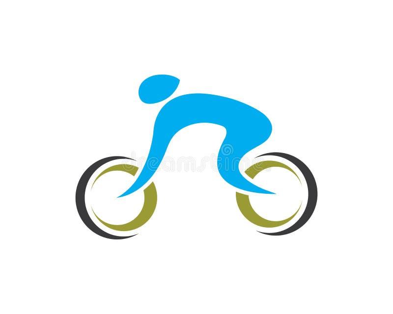 rower Rower ikony wektor Kolarstwa pojęcie royalty ilustracja