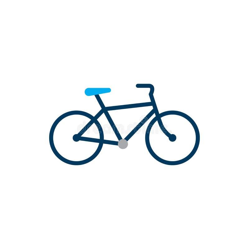 rower Rower ikony wektor w mieszkanie stylu Kolarstwo symbol Podpisuje dla rowerowej ścieżki Odizolowywającej na białym tle równi royalty ilustracja