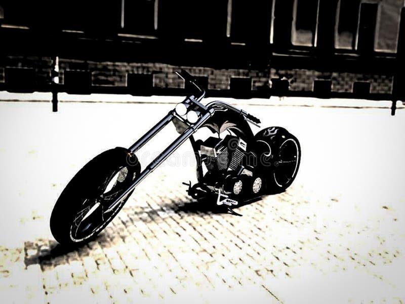 Rower na drodze obraz stock