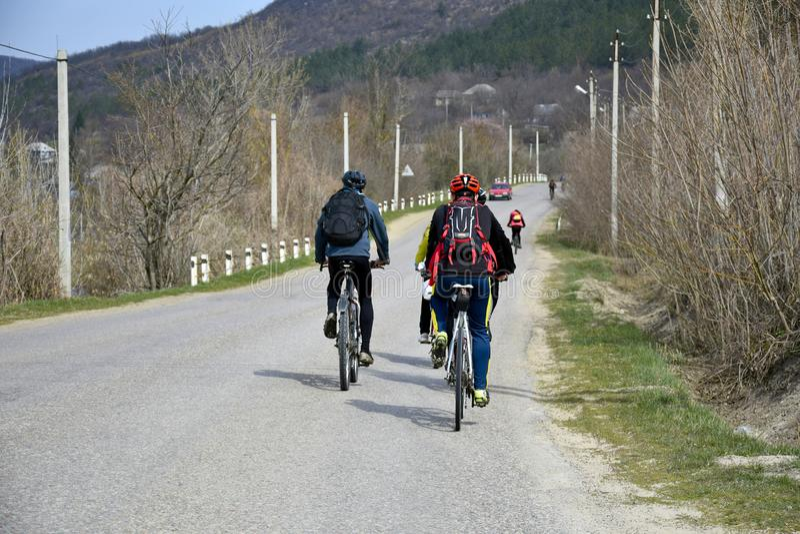 Rower przejażdżka w wczesnej wiośnie zdjęcia stock